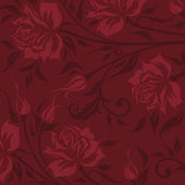 Vintage background with roses silhouette — Stock Vector