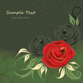 Kartkę z życzeniami z różą — Wektor stockowy