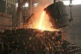 Iron and steel production scene — Stockfoto
