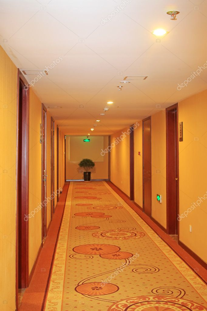 Close up of hotel corridor  — Stock Photo #5394026