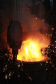 Red-hot molten steel — Stock Photo