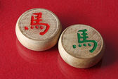 Two chessmen of chinese chess — Stockfoto