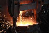 炽热熔钢 — 图库照片