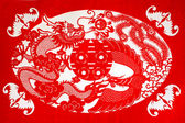 Chinese paper-cut works — Stock Photo