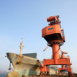 Portal crane and ships - Lizenzfreies Foto
