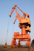Portal crane — Stock Photo