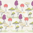 Stockvector : Abstract seamless colorful mushroom pattern