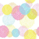 Abstract Seamless spring colorful floral pattern — Stock Vector