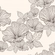 Seamless floral pattern. Background with flowers and leafs. — Stock vektor #6324893