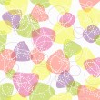 Colorful seamless pattern. Cute background with geometric figures. — Vettoriali Stock