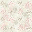 Seamless cute floral pattern. Background with spring or summer flowers. — Stockvektor