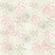 Seamless cute floral pattern. Background with spring or summer flowers. — Stok Vektör