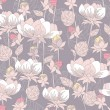 Seamless pastel floral pattern. Background with flowers. — Vector de stock #6325023