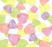 カラフルなシームレスなパターン。幾何学的図形とかわいい背景. — ストックベクタ