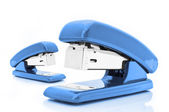 Blue staplers — Stockfoto