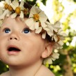 Baby with wreath — Stock Photo #6387803