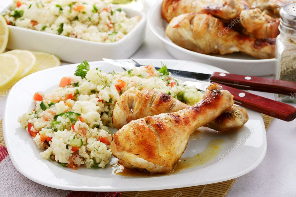 Chicken with rice and vegetables — Stock Photo #5689074