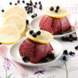 Stock Photo: Bilberry parfait
