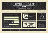 Hotel website template — Stock Vector