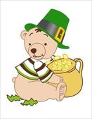 St Patrick's day bear — Stock Vector