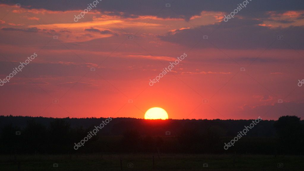 View of sunset over fields — Stock Photo #6597972
