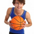 Guy with basketball — Stock Photo