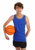 Guy holding basketball — Stock Photo