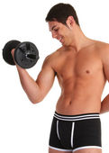 Dumbell guy — Stockfoto