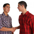 Friendly handshake — Stock Photo