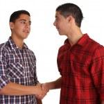 Friendly handshake — Stock Photo
