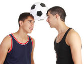 Two footballers — Stock Photo