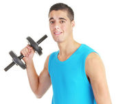Dumbell guy — Stock Photo