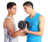 Training weighlifters — Stock Photo