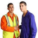 Friendly workmen — Stock Photo
