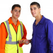 Friendly workmen — Stock Photo