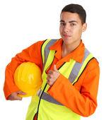 Happy workman — Stock Photo