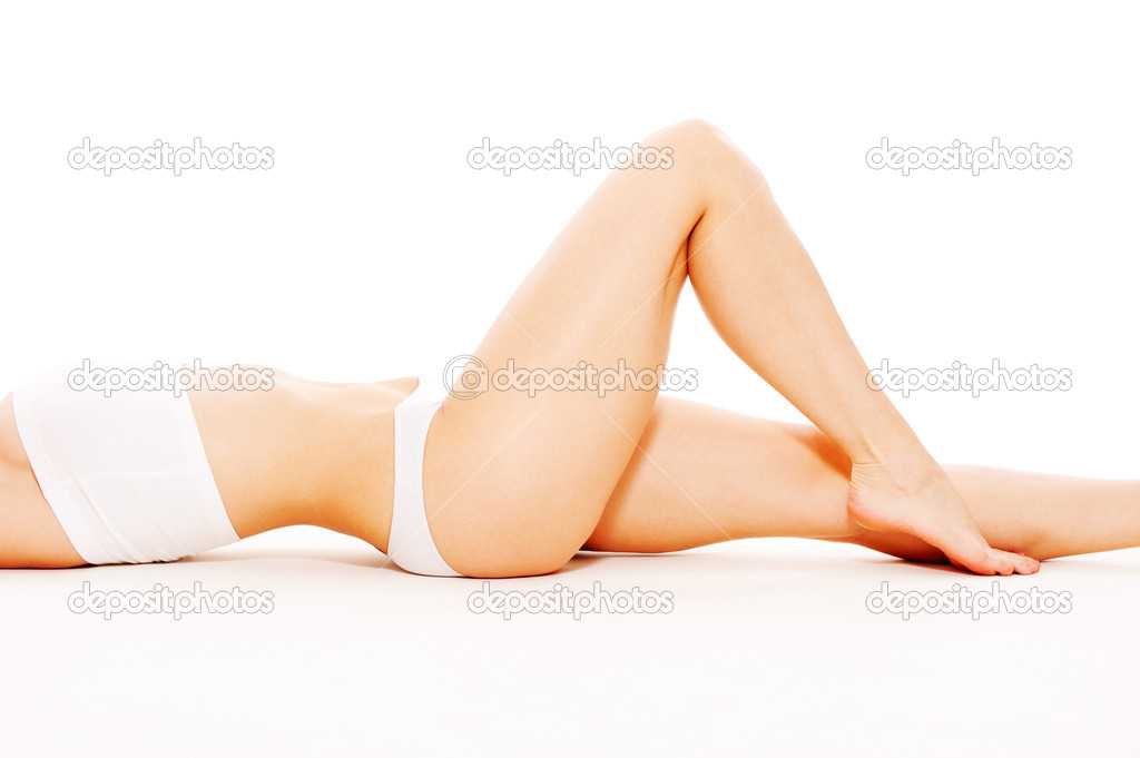 Lovely feminine body in white underwear  — Stock Photo #5532231