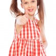 Smiley girl showing thumbs up — Stock Photo