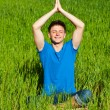 Healthy young man meditation — Stock Photo #6275091