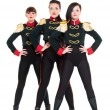 ������, ������: Three attractive dancers in costumes