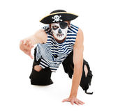 Portrait of cruel pirate — Stock Photo