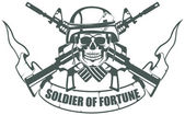 Soldier of fortune — Stockvector