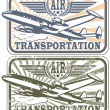 Air transportation stamp — Stock Vector
