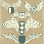 Vintage heraldic wings — Stock Vector