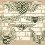 Vintage heraldic wings — Stock Vector #5744237