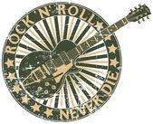Rock n Roll never die stamp — Stock Vector