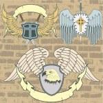 Vintage heraldic wings — Stock Vector #5813927