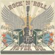 Rock n Roll never die — Stock Vector