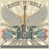 Rock n Roll never die — Stock Vector
