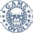 Game over stamp — Stock Vector